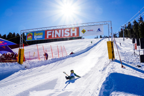 185 people converged at Angel Fire Resort in Angel Fire, New Mexico for the 40th Annual World Championship Shovel Races. Fastest speeds topped out at 64 mph.  (Photo: Angel Fire Resort)