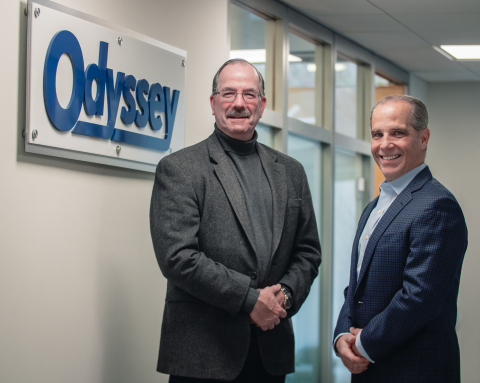 Odyssey Logistics & Technology posts double digit revenue and earnings growth for 2018. Pictured from left to right: Bob Shellman, president and CEO, Odyssey Logistics & Technology with Cosmo Alberico, chief operating officer and CFO, Odyssey Logistics & Technology. (Photo: Business Wire)