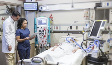 The Prismaflex system is used in the intensive care unit (ICU) to treat patients with acute kidney injury (AKI) and certain blood and autoimmune conditions, which can be life-threatening. (Photo: Business Wire)