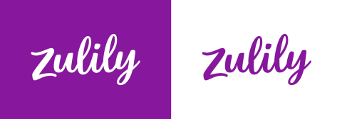 Primary and secondary Zulily logos, featuring the new brand's primary color, Discovery Purple.
