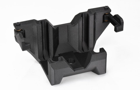 Leaf spring U-bolt fixture, customized using GrabCAD Advanced FDM from Stratasys. (Photo: Business Wire)