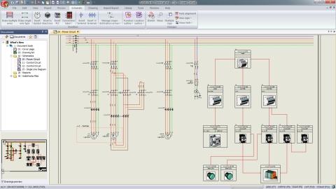 Electrical Schematics Mixed Scheme (Photo: Dassault Systèmes)