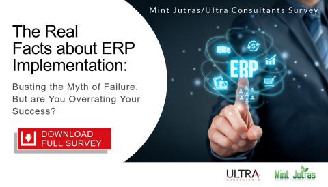 Go to the following URL to download the full report: www.ultraconsultants.com/erpimplementationsurvey (Graphic: Business Wire)