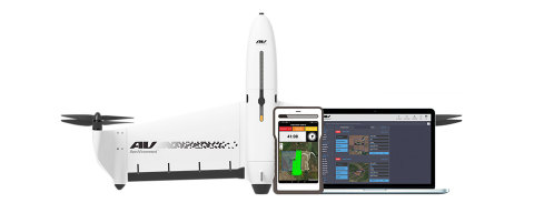 AeroVironment's powerfully simple to use Quantix VTOL hybrid drone and Decision Support System includes new features optimized for the needs of growers, enterprise ag businesses, and ag service providers (Photo: AeroVironment, Inc.)