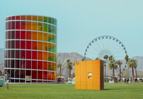 Amazon Lockers, for the first time ever, will be available as a convenient and secure delivery option for the Coachella Valley Music and Arts Festival from April 12-14 and April 19-21. (Photo: Business Wire)