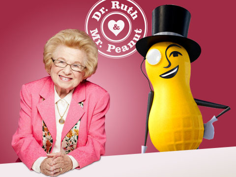 Dr. Ruth and MR. PEANUT have advice for everyone this year on how to make your Valentine's Day one to remember. (Photo: Business Wire)