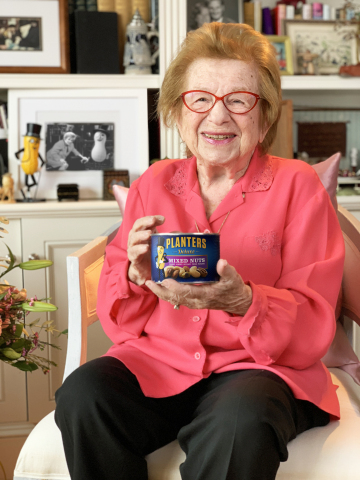 This Valentine's Day, MR. PEANUT enlisted the help of an expert who's been around almost as long as him - sex therapist, media personality and author, Dr. Ruth. (Photo: Business Wire)