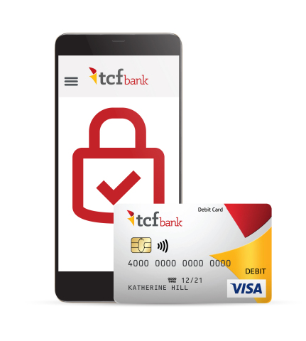 TCF Bank customers can easily lock and unlock debit cards from the convenience of their phones, comp ...