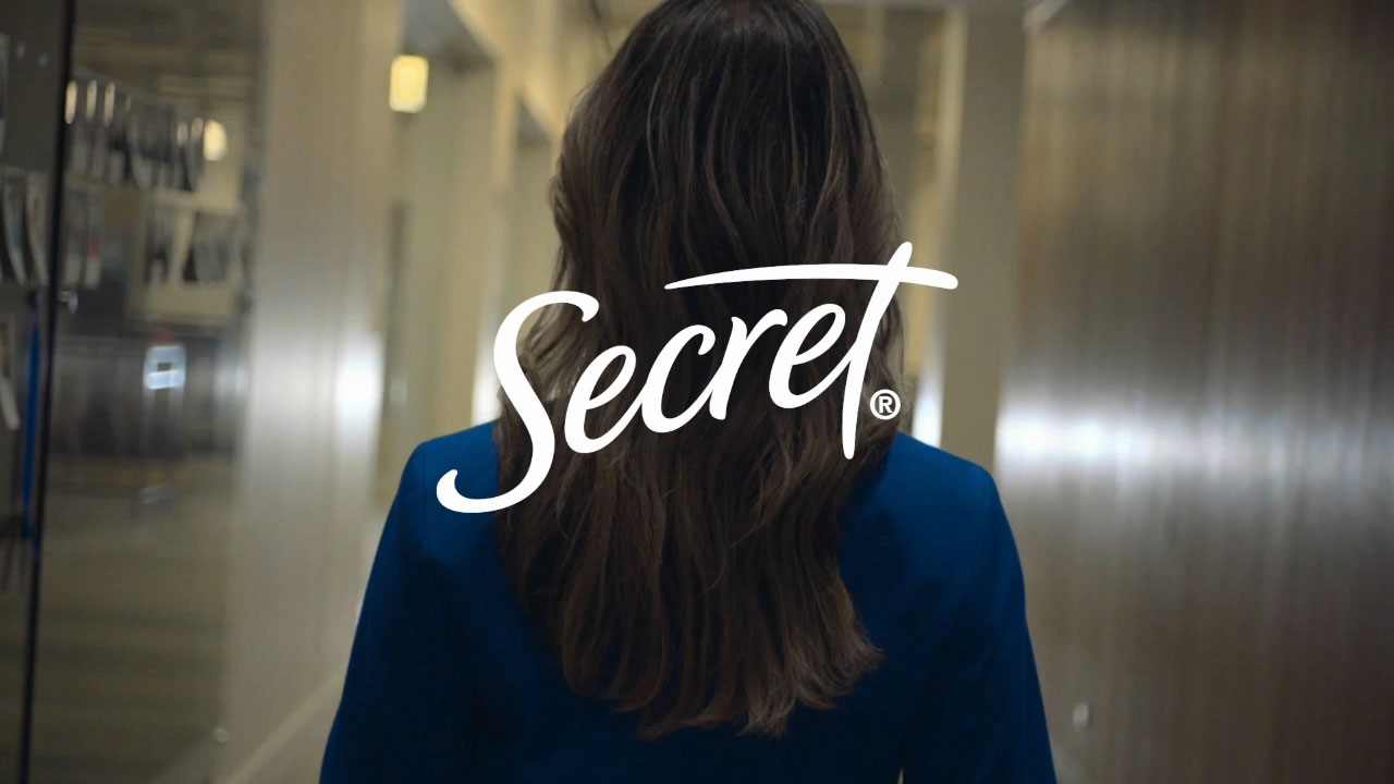 Secret Deodorant's new All Strength, No Sweat ad.