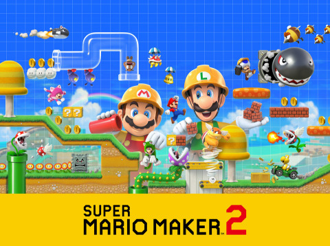 In this new game, players can create the Super Mario courses of their dreams, with access to even more tools, items and features. Super Mario Maker 2 launches exclusively for Nintendo Switch this June. (Graphic: Business Wire)