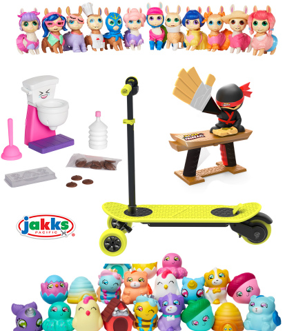 JAKKS Pacific Hot Toys for 2019 - Who's Your Llama, Chocolate Poop Maker, MorfBoard E-Scoot, Slap Ninja and Squish-Dee-Lish (Graphic: Business Wire)