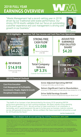 2018 Full Year Earnings Overview (Graphic: Business Wire)
