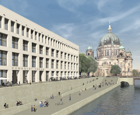 East façade of the Humboldt Forum. Photo courtesy of SHF / Architect: Franco Stella with FS HUF PG