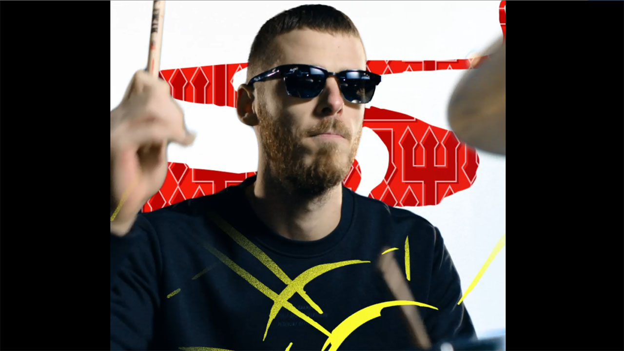 MUFC's David De Gea plays the drums as part of the Maui Jim eyewear collaboration video.