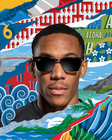 Anthony Martial models Maui Jim eyewear (Photo: Business Wire)