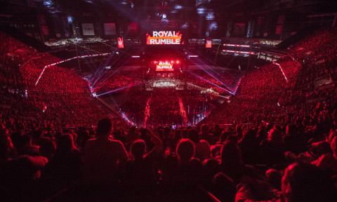 Aerial image of Royal Rumble 2019 at Chase Field in Phoenix (Photo: Business Wire)