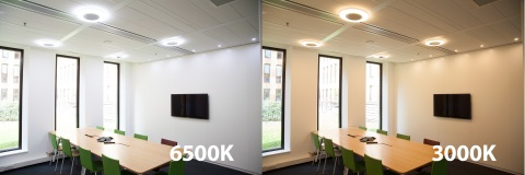 OSRAM Photo From left, using the Osram Tunable White System, cool white light with higher proportion ...