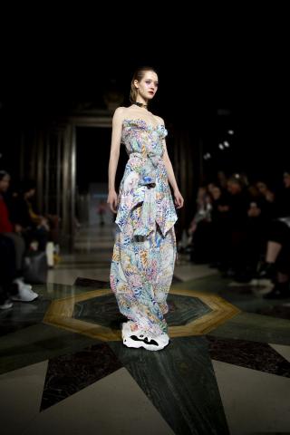 Skechers D'Lites 3.0 at Jayne Pierson fashion show during London Fashion Week. (Image courtesy of Al ...