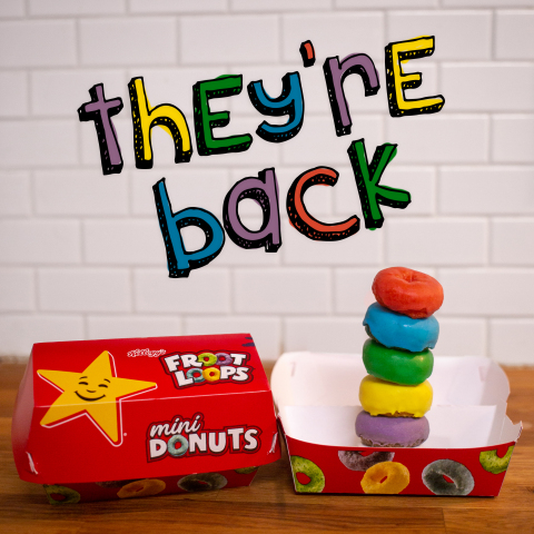 Froot Loops Mini Donuts available at Carl's Jr. and Hardee's. (Photo: Business Wire)