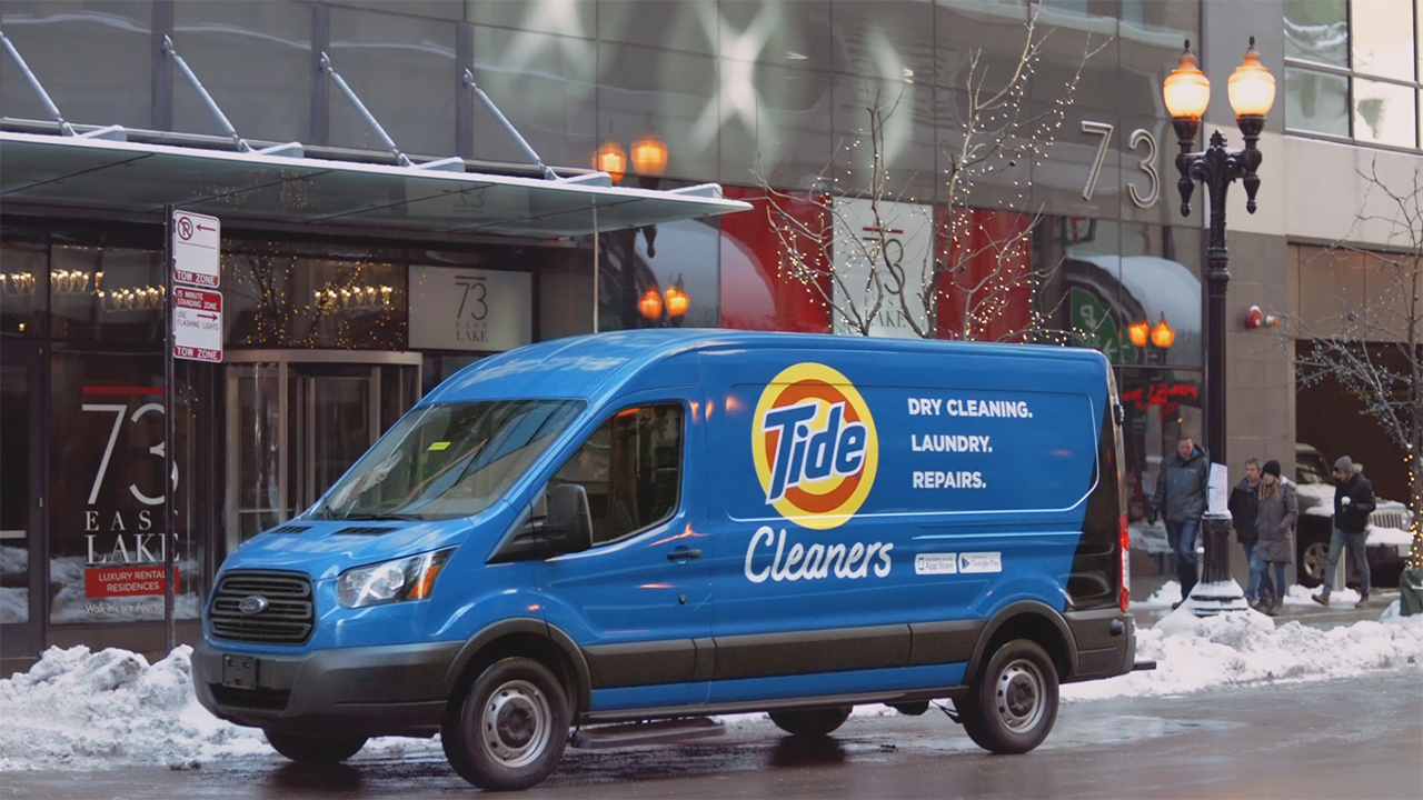 Tide Cleaners is an out-of-home laundry and dry cleaning service aimed at giving people the option to spend more time on life and less time doing laundry.