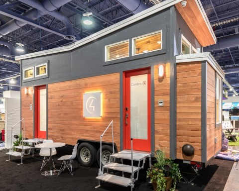 Featuring beautiful design and a whole-home automation system, the Control4 Tiny Smart Home debuts at IBS 2019 in booth SU443. (Photo: Business Wire)
