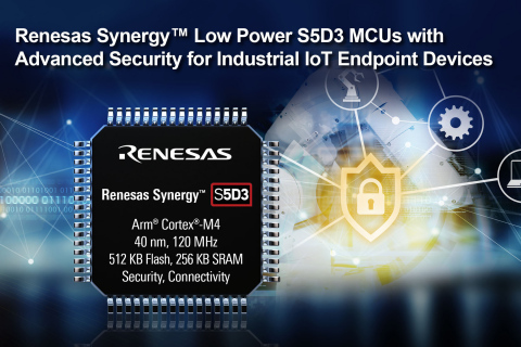 Renesas Synergy Low Power S5D3 MCUs with Advanced Security for Industrial IoT Endpoint Devices (Grap ...