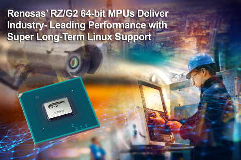 Renesas' RZ/G2 64-bit MPUs Deliver Industry-Leading Performance with Super Long-Term Support (Graphi ...