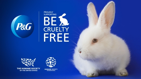 P&G has joined the Humane Society International #BeCrueltyFree campaign to ban animal testing for cosmetics in all major global beauty markets by 2023. (Photo: Business Wire)