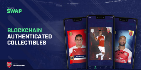 Arsenal players appear on Fantastec SWAP in official licensing deal (Graphic: Business Wire)