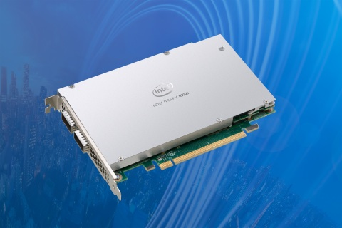 The Intel FPGA Programmable Acceleration Card N3000 is designed for communications service providers to enable 5G next-generation core and virtualized radio access network solutions. Intel Corporation introduced the Intel FPGA PAC N3000 at MWC 2019 in February 2019. (Credit: Intel Corporation)