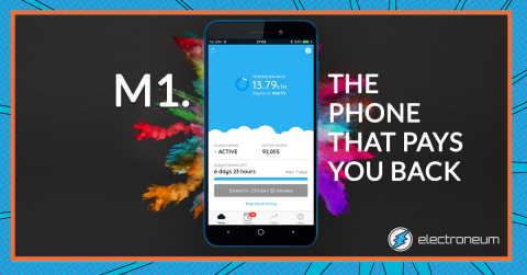 Electroneum Launches Groundbreaking Smartphone M1 Which Pays You Back (Photo: Business Wire)