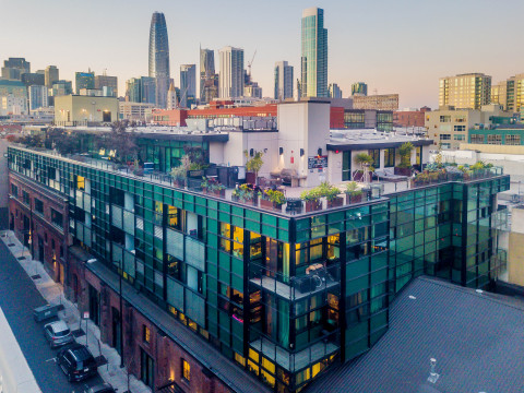 Arc Light, a 94-unit property in San Francisco. The adaptive reuse of the California Electric Light Company building was developed in 2013 to LEED Gold certification. (Photo: Business Wire)