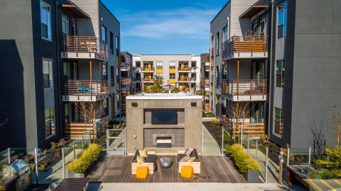 Menlo Park, a 146-unit property in Menlo Park. Delivered in 2017, the property features a garden-style construction, which is a rarity for the San Francisco Peninsula. (Photo: Business Wire)