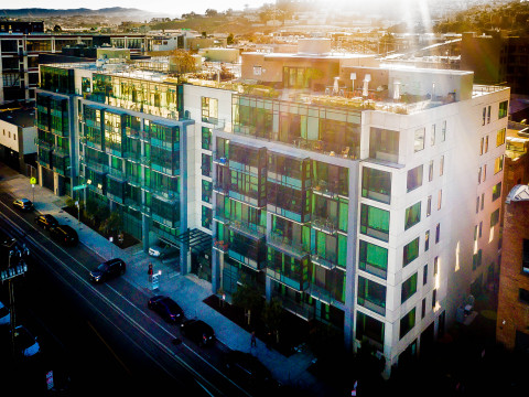 Potrero Launch, a 196-unit property in San Francisco. Another historic adaptive reuse, the property was built in 2013 to LEED Platinum certification. (Photo: Business Wire)