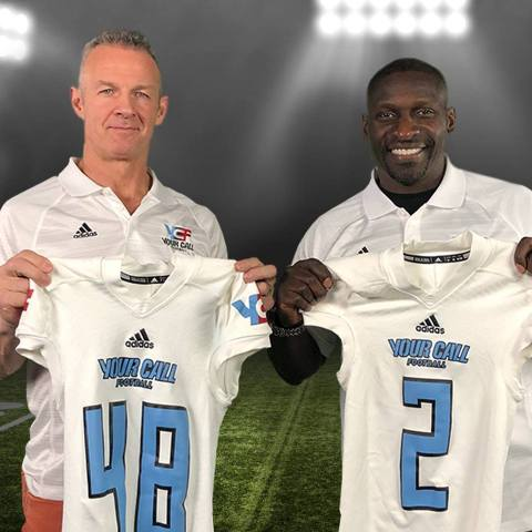 Merril Hoge (left) and Solomon Wilcots (right) serve as head coaches for YCF's second series. (Photo: Business Wire)