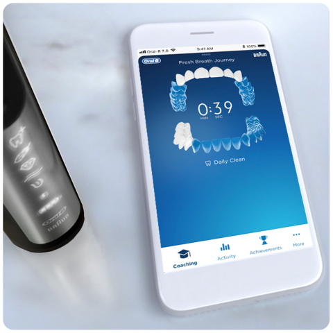 Oral-B GENIUS X with Artificial Intelligence and the Oral-B App. (Photo: Business Wire)