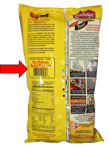The UPC may be found on the back, left side of the bag.(Photo: Business Wire)
