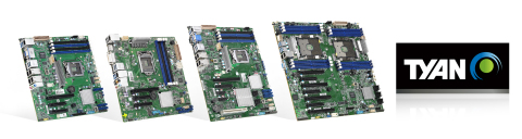 TYAN's Embedded Server Motherboards Provide Long Life Cycle, Wide-range Operating Temperature and Compact Form Factor Support (Graphic: Business Wire)
