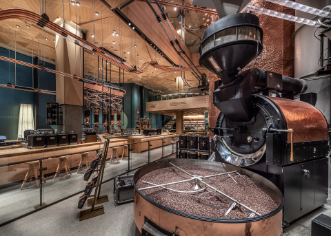 Home to more than 100 coffee and tea beverages, the four-story fully-immersive coffee experience was built entirely from the ground up and is a destination for coffee innovation and discovery. (Photo: Business Wire)