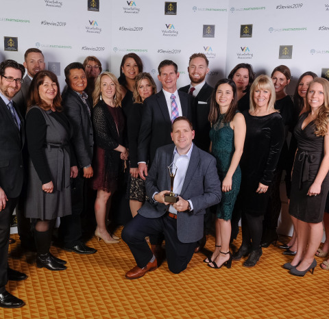 Members of Offerpad's Customer Success team, led by Jamie Nuss, accepted a Gold Stevie and four Bronze Stevies at The Stevie Awards gala in Las Vegas on Friday night. (Photo: Business Wire)