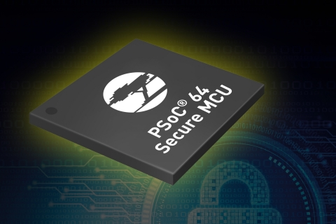 Pictured is Cypress Semiconductor's PSoC 64 Secure MCU, which integrates robust, standards-based system layer security software with the hardware layer features available in the ultra-low-power PSoC 6 architecture. (Photo: Business Wire)