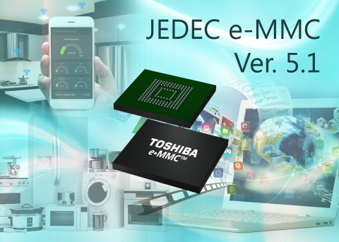 New e-MMC products from Toshiba Memory America integrate the company's BiCS FLASH 3D flash memory an ...