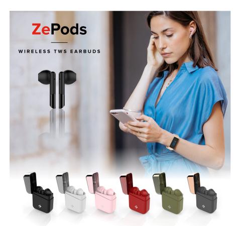 ZePods - Wireless TWS earbuds (Photo: MyKronoz)