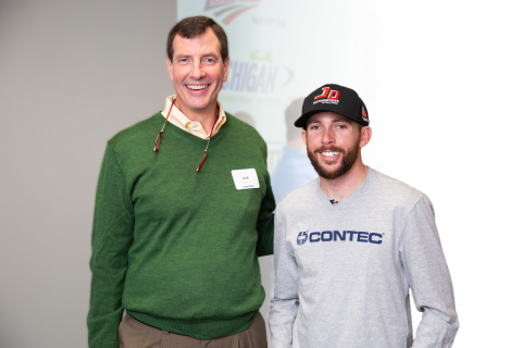 Jack McBride, Contec CEO with driver Ross Chastain (Photo: Contec).