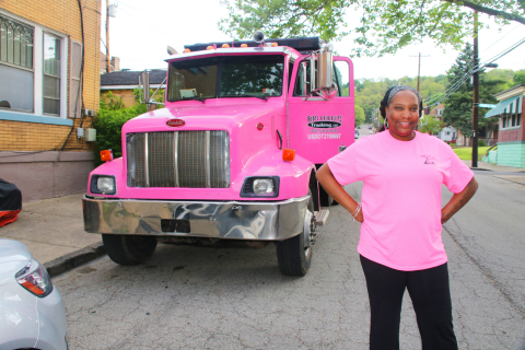 Celeste Phillips started her small business, Big LuLu's Trucking LLC, with the help of Bridgeway Capital and Wells Fargo's Diverse Community Capital program. (Photo: Business Wire)