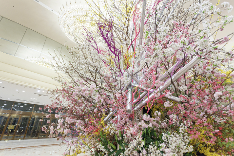Sakura cherry blossoms will be displayed throughout the hotel to represent arrival of spring with sakura exhibition and delectable foods using spring ingredients. (Photo: Business Wire)