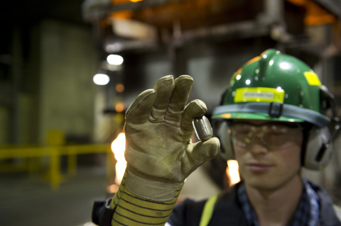 Sherritt marked 3 billion pounds of nickel production at its refinery in Fort Saskatchewan, AB (Phot ...