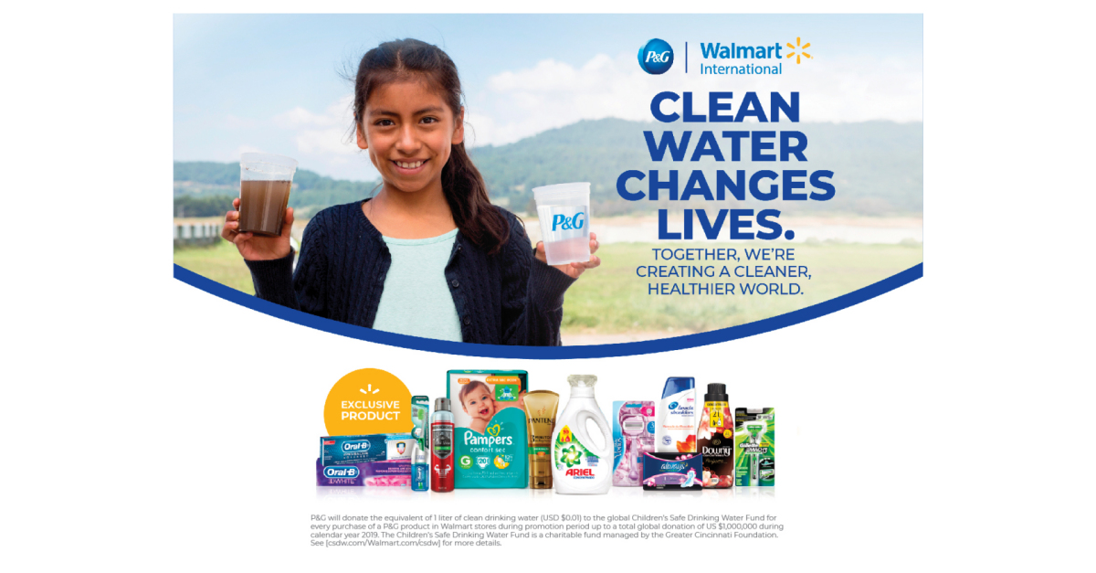Walmart International and P&G Combine Efforts to Bring Clean Drinking Water to Children and Families Around the World - Business Wire