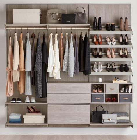 The Container Store Custom Closets: Avera in Stone (Photo: Business Wire)