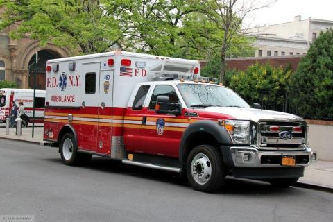 FDNY Wheeled Coach type I ambulance with idle reduction technology (Photo: Business Wire)